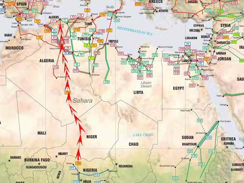 تفاصيل جديدة عن مشروع أنبوب الغاز الجزائري النيجيري